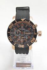 TW Steel TW93 Grandeur Diver 45 MM Black Dial Black Silicone Chronograph Watch
