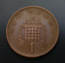 Great Britain, UK 1 New Penny 1971. KM#915. One Cent coin. Young portrait. E·||·