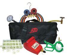 R134 Air Conditioning Automotive Gauge Vacuum Pump Tool Charging Set Kit