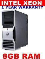 DELL PRECISION T3500 XEON  DUAL SCREEN 120GB SSD 500GB 8GB WINDOWS 7 OR 10