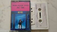 AC/DC Who Made Who *MEGARARE NEW ZEALAND MC TAPE*ALBERT TC-APLP 066*
