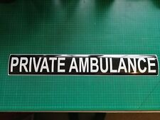 PRIVATE AMBULANCE MAGNET Call out Funeral Hearse Coroner Ambulance sticker 620mm
