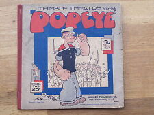 THIMBLE THEATRE starring POPEYE No. 2  US SONNET PUBL. from 1932 SEGAR dailies