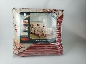 Macy's Fairfield Square Collection 8 Piece King Reversible Comforter Set