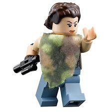 LEGO STAR WARS MINFIGURE LEIA CAMOUFLAGE CAMO PONCHO WITH BLASTER GUN 75094