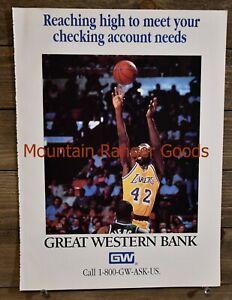 Los Angeles Lakers James Worthy Great Western Bank Wall Art Page Plate Print NBA