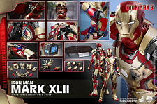 Iron Man 3: Iron Man Mark 42 XLII QS007 1/4 Hot Toys BRAND NEW