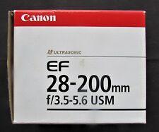Canon Ultrasonic EF 28-200 f/3.5-5.6 USM - Zoom Lens- Canon SLR Cameras