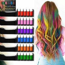 Temporanea Gesso per Capelli per Capelli Colore Colorante pettine Salon Kit Party Cosplay Set UK 6 o 1