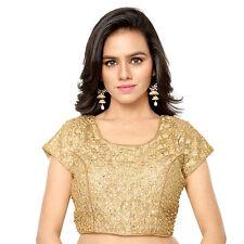 Aruna Sarees Golden Color Readymade Embroidered Blouse
