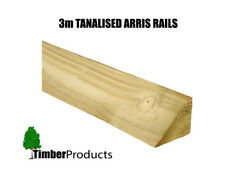 **SPECIAL OFFER** 3m (10FT) Garden Fence Arris Rail Pressure Treated Timber