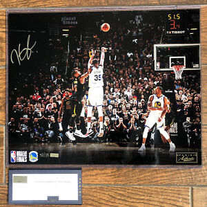 Warriors Kevin Durant signed 16x20 Clutch Photo Limited 53/135 panini NBA Finals