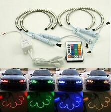 4*131MM for BMW E46 RGB Multi-Color 5050 Flash LED SMD 12V ANGEL EYES HALO RING