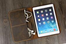 Vintage distressed leather iPad mini 2 3 4 folio case cover iPad mini organizer