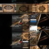 DARTS SHOP - Mobile Friendly Responsive Website Business For Sale + Domain