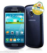 Samsung Galaxy SIII S3 Mini (unlocked) Pebble Blue i8190 Android Smartphone