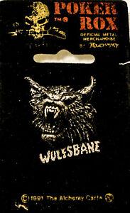 Poker Rox WOLFSBANE Pin Clasp Rare!! PC151