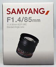 Samyang 85/1,4 Objektiv AS IF UMC DSLR Sony E-Mount manueller Fokus - Neu & OVP