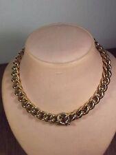D12-11 / massive schwere Kette Collier Silber 925 vergoldet über 100 Gramm