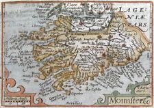 MUNSTER, IRELAND, Van Den Keere, Miniature Speed antique map c1650