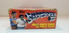 1983 Topps Vintage Superman 3 Movie Photo Cards Box DC comic Bazooka with Bubble