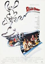 WHO FRAMED ROGER RABBIT Classic 80's Vintage Movie Poster Wall Film Art Print
