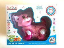 Robot Interactive Kitty Cat Walk Bump Go Lights & Music Tail & Head Swing Pink