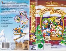 COUNTDOWN TO CHRISTMAS WALT DISNEY  VHS VIDEO PAL~ A RARE FIND~