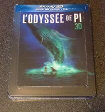 LIFE OF PI 3D Blu-Ray SteelBook Bluvip.com France Lenticular 3-Disc New OOP Rare