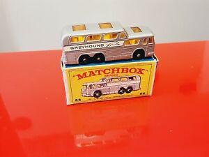 Matchbox Series 66 Greyhound Bus MADE IN ENGLAND Superfast