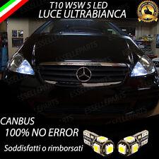 COPPIA LUCI POSIZIONE 5 LED MERCEDES CLASSE A W169 T10 CANBUS 100% NO AVARIA