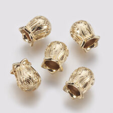 5pcs/Lot Bead Cap Real Gold Plated Brass Flower Cone 13x10mm DIY Jewelry Finding