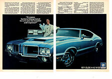 1971 OLDSMOBILE 4-4-2 / 442  W-30  ~  ORIGINAL 2-PAGE MUSCLE CAR AD