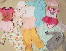 Infant Lot 0-6 Months 15 Piece Onesies, SLEEP Sacks, Hats, Pants, Mixed GUC