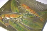 BOS179 Japanese Iron square plate hrimp leaf