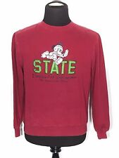 Mickey Mouse Football State Champions Disney Small S Maroon Sweatshirt Pullover