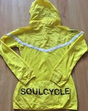 SOULCYCLE for NIKE DRI FIT Windbreaker Hoodie Jacket Yellow size S Run Cycle Gym