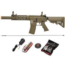 400 FPS Lancer Tactical M4 Airsoft Gun Auto AEG LT-15T Gen 2 Tan Electric Rifle