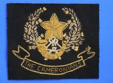 More details for military blazer badge - the cameronians (scottish rifles)  [22523]