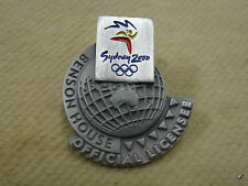 "Benson House ""Official Licensee"" Pewter Pin #2 Sydney 2000 Olympic Games"