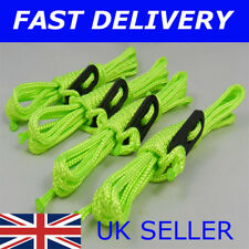 X4 BRIGHT NEON GREEN Guy Line Ropes 2.4 M Tent Camping Gazebo Rope Paracord
