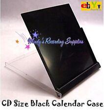 Standard CD Jewel Case Desktop Calendar Box 5-pk BLACK nice quality NEW