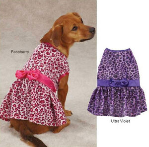 Vibrant Leopard Dog Dress Dog Pet Party East Side Collection Animal Print