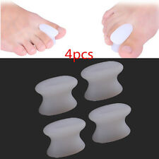 4PCS Silicone Gel Toe Protector Straightener Separator Alignment Pain Relief LJ