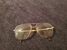 Vintage mens prescription glasses 54-16 unknown make. Thick lenses heavy frame.