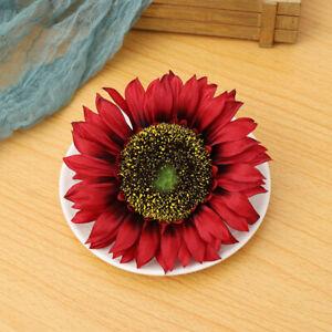 Touch Wedding Decoration Fake Flores Artificial Flower Silk Sunflower Heads