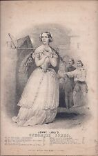 "Jenny Lind's Operatic Songs: ""The Somnambulist's Song"" 1850, Antique Sheet Music"