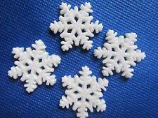 """20 Cute 1"""" Resin Glitter Snowflake Flatback B215"""