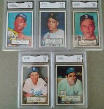 1952 Topps Reproduction Lot - 5 Cards - Includes Rookies - All Graded GMA 10