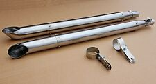 2 Stainless steel mufflers for motorcycle URAL.(NEW)